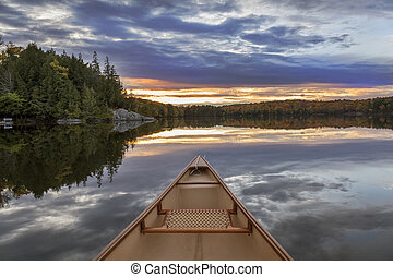 Canoe Bow at Sunset - Ontario, Canada