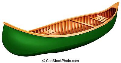 Canoe - Green canoe in simple design