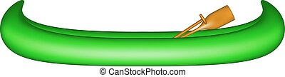 Canoe in green design