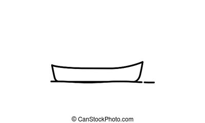 Canoe line icon on the Alpha Channel