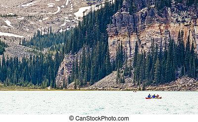 Canoe on Lake Louise