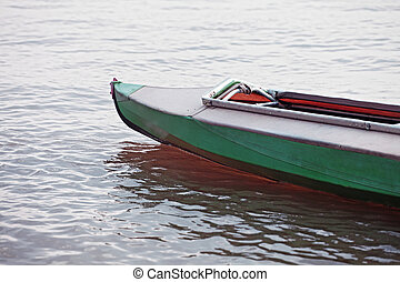 Canoe on still water