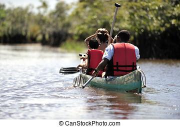 Canoe - People doing canoe in Brazil