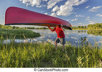 canoe portaging