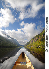 Canoe ride - boat on a river