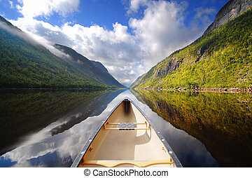 Canoe ride - boat on river