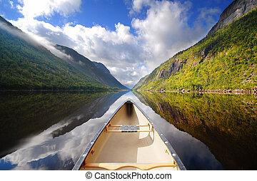 Canoe ride - boat on river