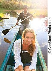 Canoe trip fun