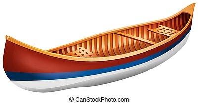 Canoe - Wooden canoe in simple design