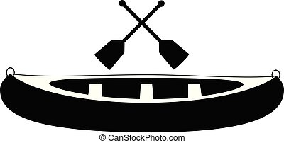 Canoe With Paddle vector eps 10