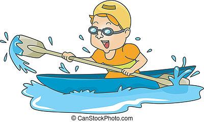 canoeing, 人