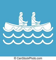 Canoeing icon white