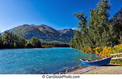 Canoeing on the Kenai River in Alaska