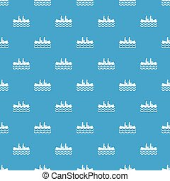 Canoeing pattern seamless blue - Canoeing pattern repeat...