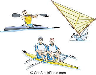 canoeing, segeln, rudern