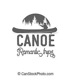 canoel badges, logo, labels and design elements - Vintage...
