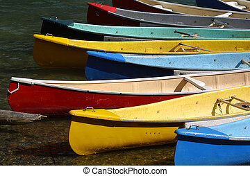 Canoes - lake morane Alberta Canada