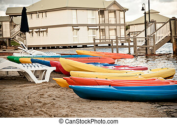 Canoes on the sand