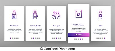 Canola Agricultural Onboarding Icons Set Vector - Canola ...