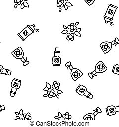 Canola Agricultural Vector Seamless Pattern Thin Line ...