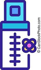 canola aromatic liquid bottle icon vector outline ...