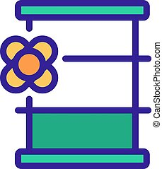 canola barrel icon vector outline illustration - canola ...