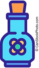 canola elixir bottle icon vector outline illustration - ...