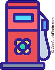 canola fuel station equipment icon vector outline ...