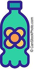 canola oil plastic bottle icon vector outline illustration...
