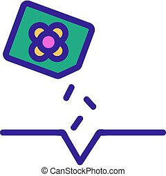 canola seeds planting icon vector outline illustration - ...