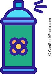canola spraying aromatic liquid icon vector outline ...