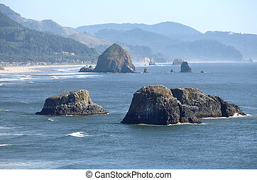 Canon beach, Oregon coastline.