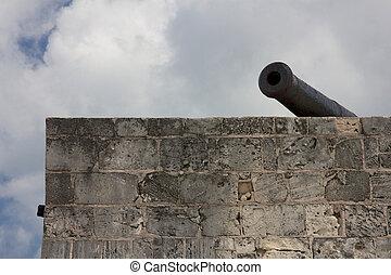 canon, sur, ramparts