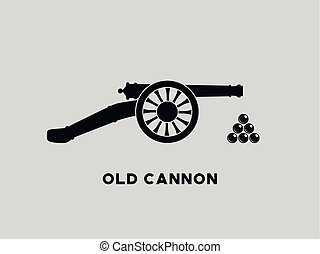 canon, vecteur, retro