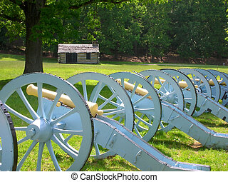 Canons And Cabin At Valley Forge