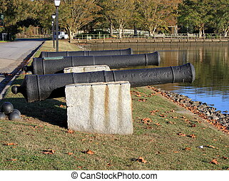 Canons - canons on the waterfront, Edenton, NC, USA