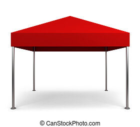 Canopy tent. 3d illustration isolated on white background