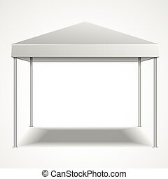 Canopy Tent - detailed illustration of a blank canopy tent,...