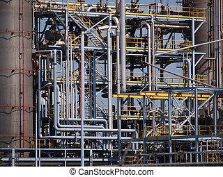 canos, industrial, detalhe