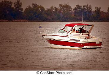 canotaje, río, detroit