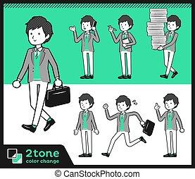 canottiera, &, uomini, giacca, tipo, 2tone
