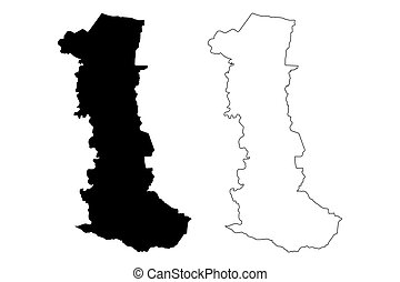 Canovanas municipality (Commonwealth of Puerto Rico, Porto Rico, PR, Unincorporated territories of the United States) map vector illustration, scribble sketch Canovanas map