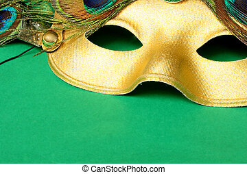 Canrival Mask - Carnival mask with green background