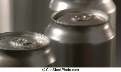 Cans Factory, closeup, 2 clips