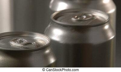 Cans Factory, closeup, 2 clips