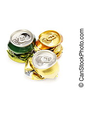 Cans of drinks