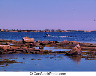 Local Fishing - A fishing boat in the distance, small...