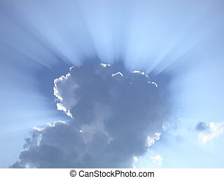 Sun Rays through Clo - Sun rays through the clouds - great...