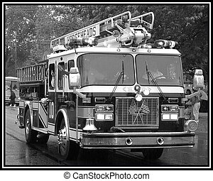 On Parade - Horseheads Fire Engine in the Memorial Day...