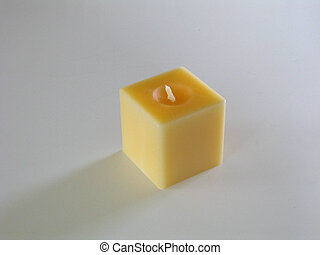Yellow Candle - Square candle
